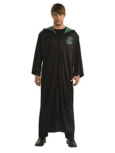 Harry Potter Adult Slytherin Robe, Black, Standard Costume -