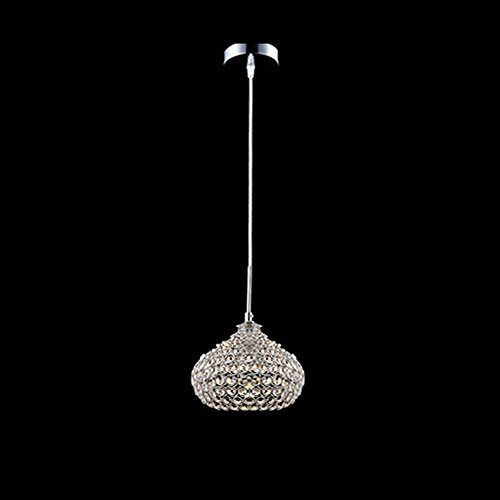 DINGGU™Chrome Finish 1 Light Single Crystal Pendant Lighting for Kitchen Island Crystal Single
