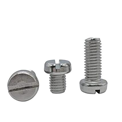 Amazon com: Ochoos 50pcs M2 Cylinder Head Slotted Screw 304