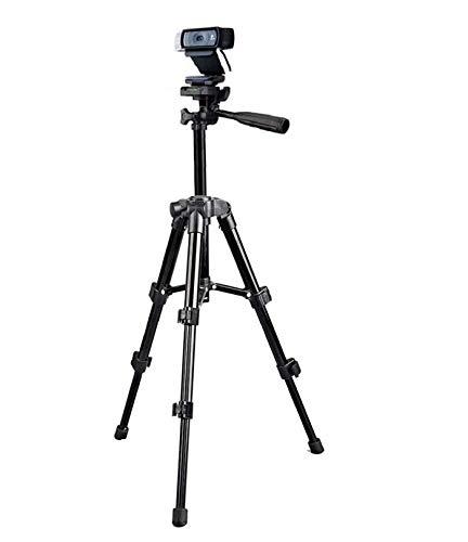Treppiede di supporto per Logitech C920, per webcam Logitech Brio 4 K, C925e, C922x, C922, C930e, C930, C920, C615, altezza di 65 cm, nero per webcam Logitech Brio 4K AIYIZON