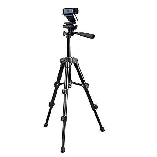 Logitech C920 Tripod,Webcam Tripod Stand for Logitech Webcam Brio 4K, C925e,C922x,C922,C930e,C930,C920,C615-65cm Height Black