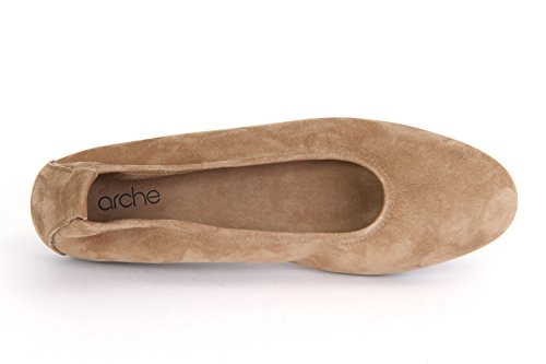 Layo Beige Flat De Ballet Arche La Mujer qwptBYAT