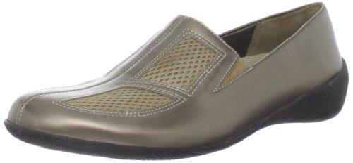 Walking Cradles Womens Real Flat Bronze Leather