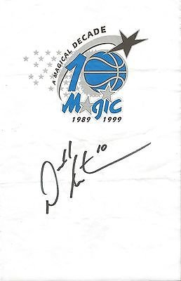 Darrell Armstrong Signed Orlando Magic Stationery Paper Page from The Steel City Auctions Gallery