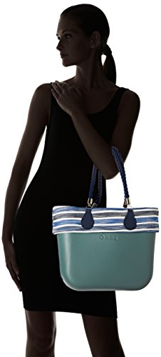O bag B001_485, Borsa a Mano Donna, Multicolore (Atlantic), 14x31x39 cm (W x H x L)