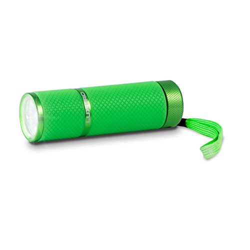 (LUX-PRO - Tactical LED Multi Mode Handheld Flashlight, Maximum Brightness, LP395-LG Gels Glow in Dark 9 LED Flashlight, Light Green)