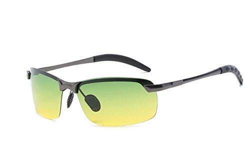 Jaune Lunettes Léger avec Cadre Soleil Sport Protection Hommes UV en Argent Tukistore de Soleil Hommes Conduite de Lunettes Métal Polarisées Mode pour Ultra 5BnZR