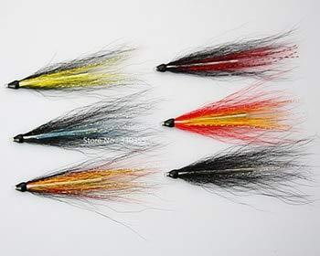 Señuelos de pesca – Tubo de trucha de mar Fly aguja tubo Salmón Moscas Selección (12-Pack), Size 40mm