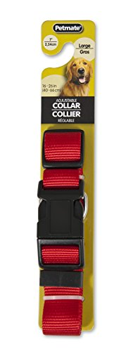 "Aspen Pet Nylon Adjustable Dog Collar 1""X16-26"" Red"