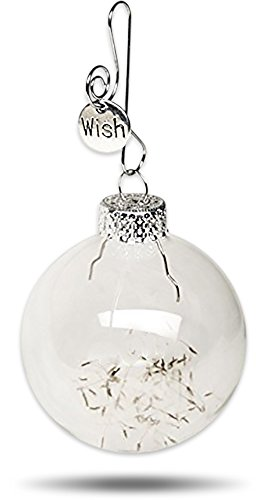 Remember Making a Wish on a Dandelion ? Dandelion Seeds Keepsake Glass Globe Ornament Make a Wish Gift by Dorinta