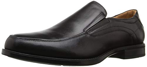 Florsheim Men's Midtown Moc Toe Slip-On Black Smooth 10.5 EEE US