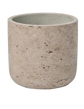 Grey Planter Pot indoor and outdoor Washed Fiberstone Flower Pot 5'' H x 5'' W - by Pottery Pots by Pottery Pots (Image #1)