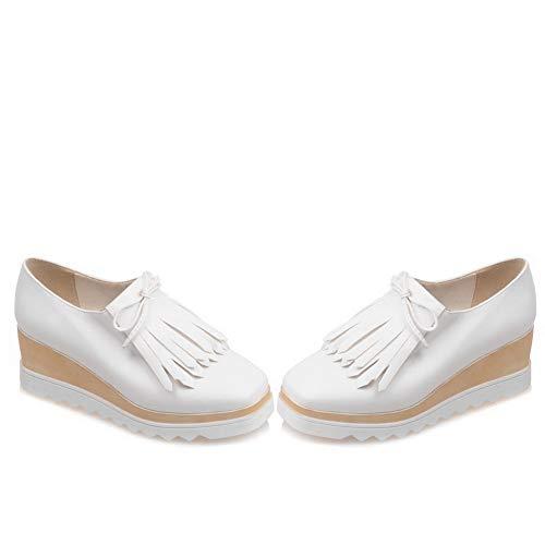Femme Plateforme Blanc Blanc 5 AdeeSu 36 SDC05827 xT6gq5wE