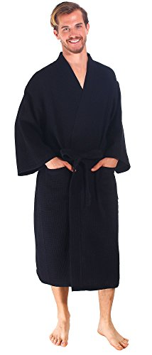 Simplicity Cotton Waffle Kimono Bathrobe