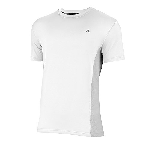 Arctic Cool Mens Instant Cooling Shirt w/Mesh, White, Large