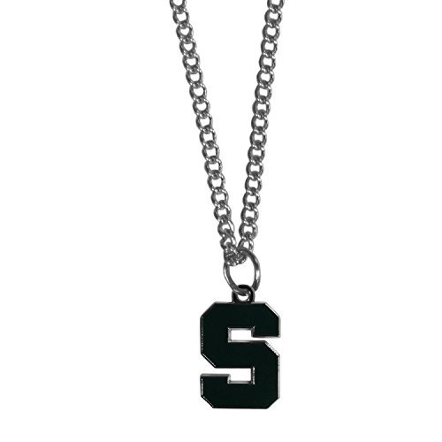 Michigan state pendant michigan state spartans pendant michigan make a statement with our collegiate chain necklaces the 20 inch chain features a fully aloadofball Gallery
