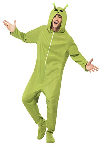 Smiffys Adult Unisex Alien Costume, Hooded All in One, Legends of Evil, Halloween, Size M, 55004 ()