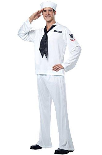 (California Costumes Sailor, White, Medium)