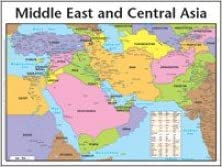 Middle East and Central Asia Map: Amazon.de: Fremdsprachige ...