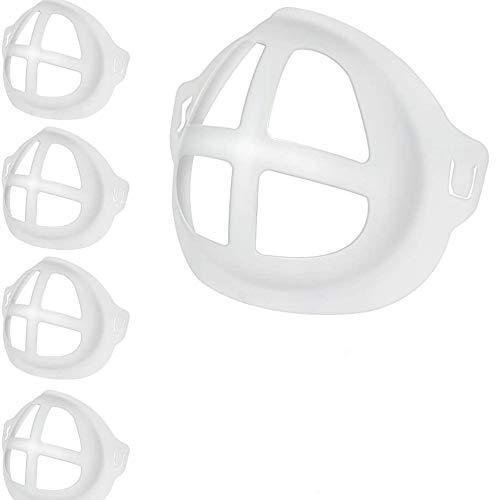3D Bracket for Inner Support Frame, bracket for comfortable facee breathing space, Washable and Reusable Translucent Internal Support Frame Bracket(5 Packs)