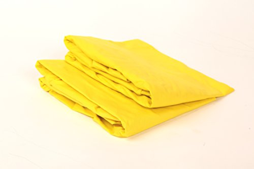 Bacati Solid Yellow 2 Pc Cotton Percale Crib Sheets