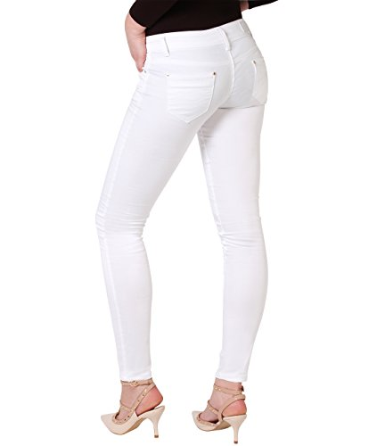 Donna Pantaloni Weiß Jeans Denim Casual Caldi 9003 Krisp gq8OpwO