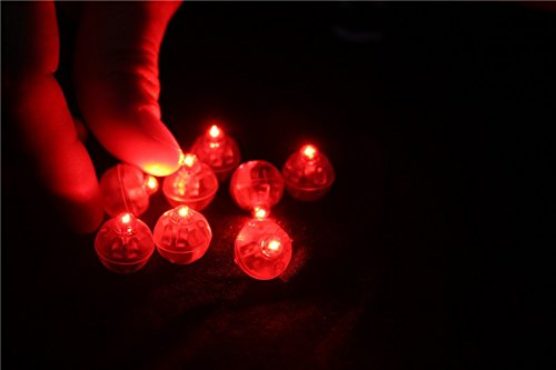 Red Led Ball Lamps Mini Balloon Light For Paper Lantern Christmas Halloween Wedding Party Decoration (Genie Halloween Makeup)