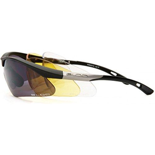 BLOC EYEWEAR SHADOW BLACK SUNGLASSES (3 INTERCHANGEABLE - Eyewear Bloc