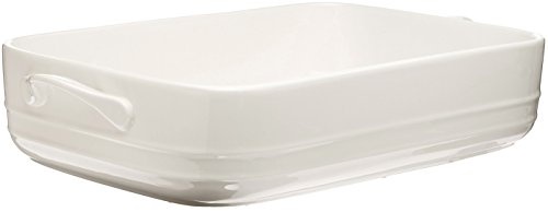 Maxwell and Williams Basics Oven Chef Rectangular Baker, 12.5 by 9-Inch, White