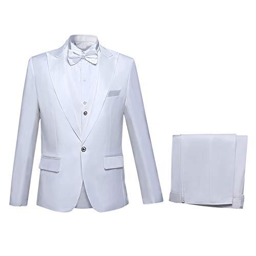 uomo Gilet pezzi Giacca Tuxedo e da da pantaloni sposa 3 Abito bianco pq510q