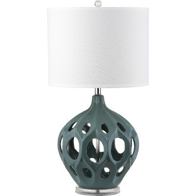 Safavieh Lighting Collection Regina Table Lamp, Teal Ceramic by Safavieh