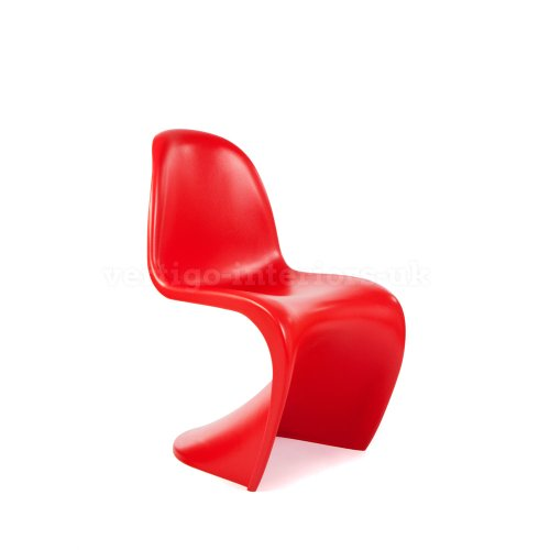 Kids Verner Panton Style 'S' Dining Lounge Playroom Chair - Red