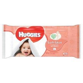 Huggies Soft Skin Single Wipes 56