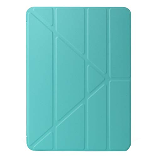 Iusun for Apple iPad Pro 11 inch 2018 Case Leather+Silica Gel Sleeve Lightweight Case Cover Trifold Stand with Auto Sleep/Wake Function Slim Shell Pouch Solid Protective Skin (Mint Green)