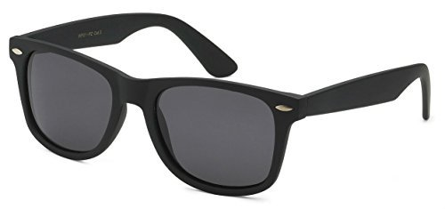 Sunglasses Classic 80's Vintage Style Design (Black Matte, - Dark Sunglasses Mens
