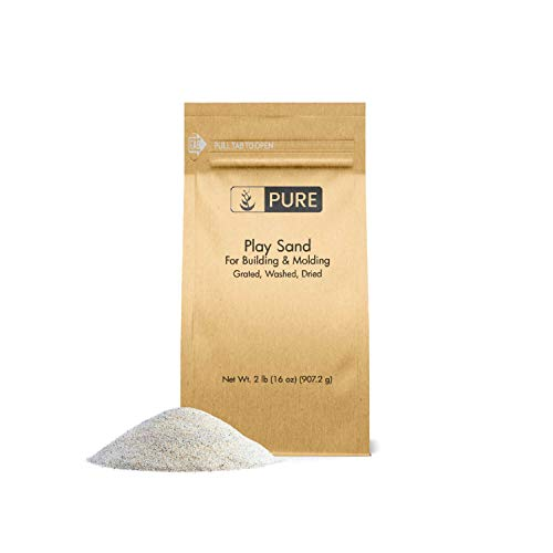 Pure Organic Ingredients Play Sand (2 lb),, Building & Molding, Promotes Creativity, Sandbox & Play Areas, Indoor/Outdoor, Eco-Friendly Packaging (Also in 5 lb & 25 lb) -