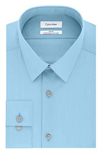 Calvin Klein Men's Dress Shirt Slim Fit Non-Iron Herringbone