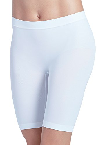 (Jockey Women's Underwear Skimmies Slipshort, White, L)