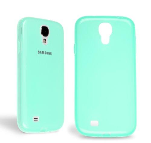 Horny Protectors® flexible Schutzhülle Cover Case mit integrietem Staubschutzstöpsel für Samsung Galaxy S4 IV i9500 Grün TPU