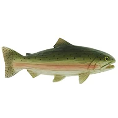 Trout Fish for Shelf or Mantle (Carved-Wood Look) 11
