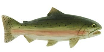 Trout Fish for Shelf or Mantle (Carved-Wood Look) 11""