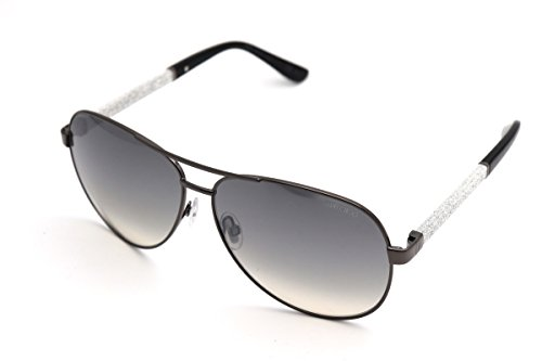 (Jimmy Choo Sunglasses LEXIE/S LEXIE new color (Dark Ruthenium/Shiny Black (IC gray mirror shaded silver lens))