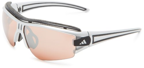adidas Evil Eye Halfrim Pro Xs Rectangular Sunglasses, Silver Metallic/Black, 62 - Sunglasses Adidas Cycling