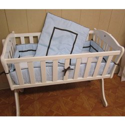 Babykidsbargains Friendship Cradle Bedding, Blue, 15'' x 33''