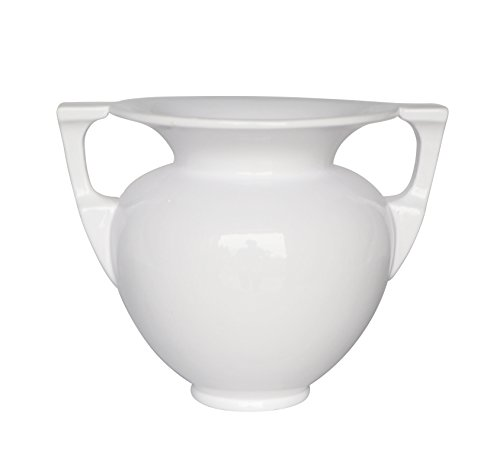 Sagebrook Home 12248-01 Decorative Modern Ceramic 2-Handled Urn, White Ceramic, 10.5 x 7.75 x 8 Inches