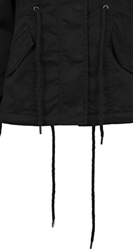 7 black Parka Ladies Classics Urban Cotton Donna Basic Nero xvpI08qI