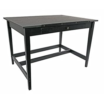 Vanguard Drawing Room Wood Drafting Table Finish: Black Ash
