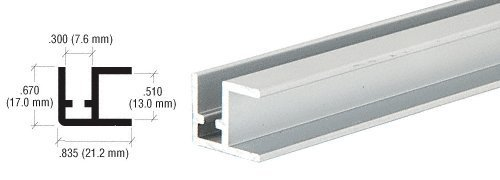 fabbrica diretta CRL Satin Anodized Aluminum base Rail Rail Rail estrusione – 12 ft Long by CRL  ti aspetto