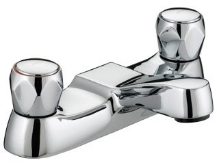 Bristan VAC BF C MT Club Bath Filler with Metal Heads - Chrome Plated