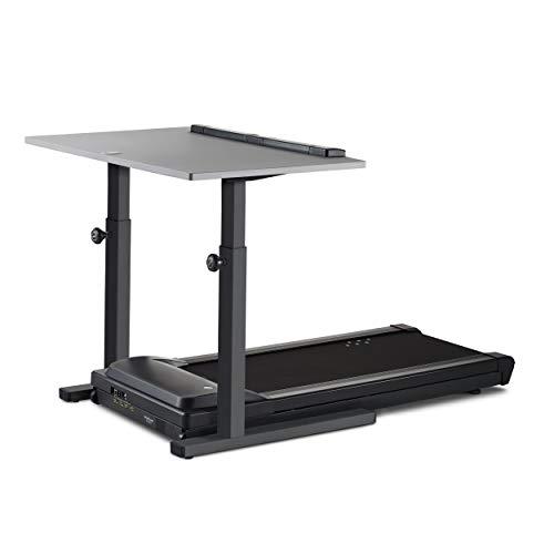 "LifeSpan TR1200-DT5 Treadmill Desk Charcoal Frame with 48"" Desktop - Gray Desktop"